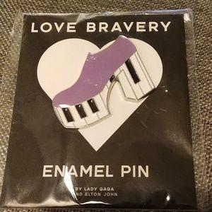 Lady Gaga LOVE Bravery Enamel Pin DISCO Shoe NWT